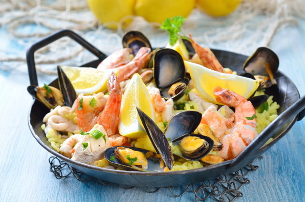 Paella For A Pescetarian Diet