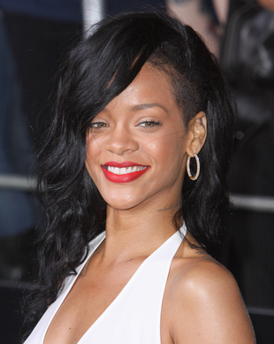 Rihanna Black Undercut Hairstyle