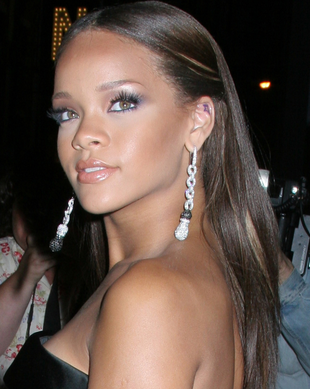 Rihanna Sleek Straight Long Hairstyle