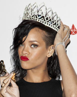 Rihanna Undercut Long Hairstyle