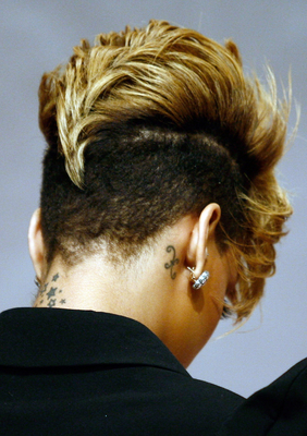 Back Of Rihannas Fohawk