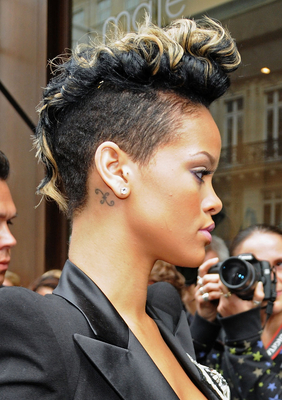 Rihanna Mohawk Haircut