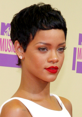 Rihanna Short Pixie Hairstyle
