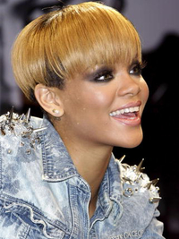 Rihanna Bowl Cut Hairstyle
