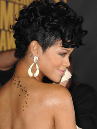 Rihanna Curly Fohawk Hairstyle Side View
