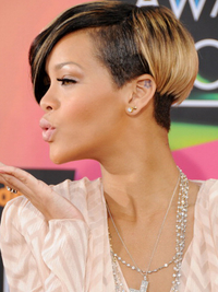 Rihanna Short Bob Side View