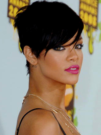 Rihanna Short Layered Pixie