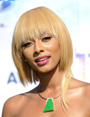 Keri Hilson Tapered Short Bob Haircut