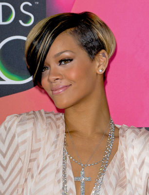 Rihanna Short  Bob Haircut