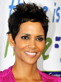 Halle Berry Short Wavy Hairstyle