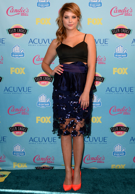 Ashley Benson Giorgio Armani Peplum Skirt