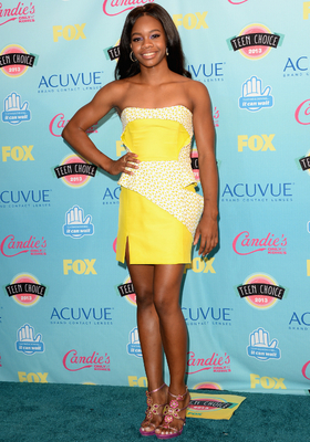 Gabby Douglas Yellow Mini Dress