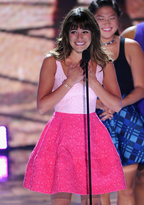 Lea Michele Duo Chromatic Pink Dress