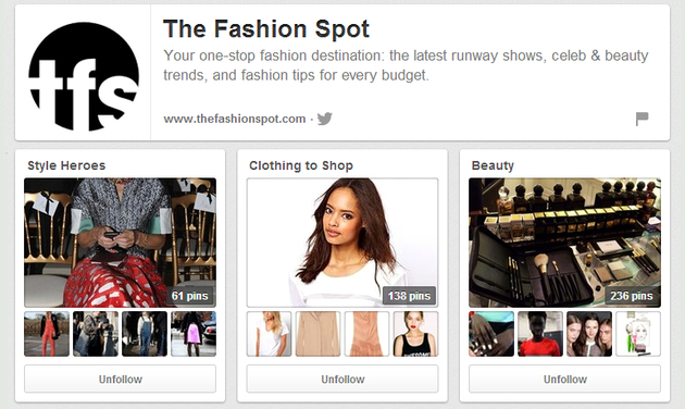 Fashion Spot Pinterest