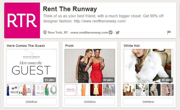 Rent The Runway Pinterest