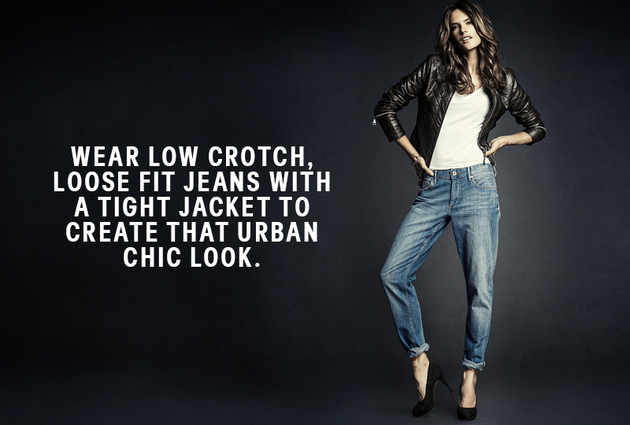 Collarless Jean Jacket H&m h And m Low Crotch Jeans