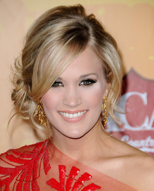Carrie Underwood Side Bun Hairstyle