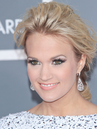 Carrie Underwood Glam Updo Hairstyle
