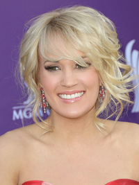 Carrie Underwood Loose Updo Hairstyle