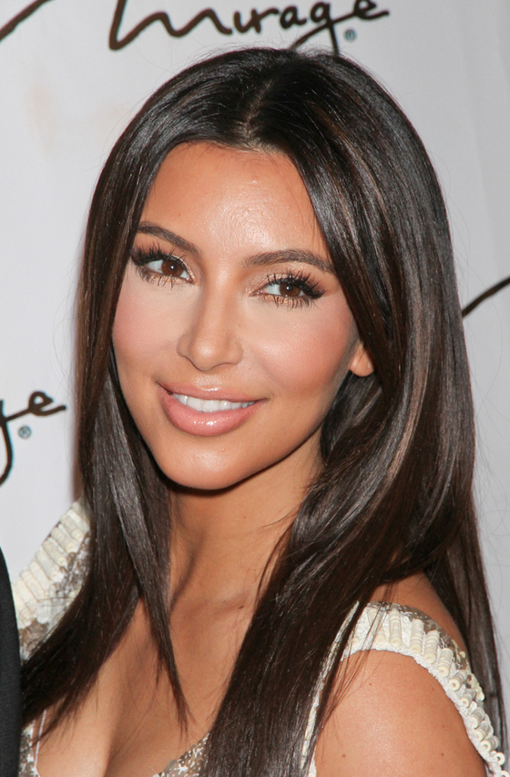 pictures best haircuts for long faces kim kardashian