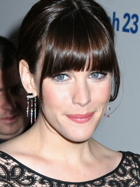 Liv Tyler Long Face Shape Blunt Bangs Hair Style