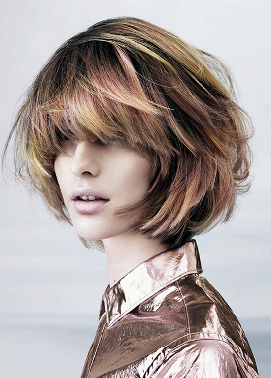 Layered Bob For Round Face