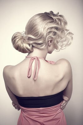 Bridesmaids Side Bun Hairstyle Back View