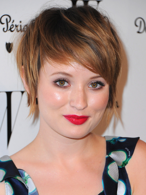 Emily Browning Short Shaggy Haircut