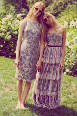 Erin Fetherston Spring 2014 Achromatic Dresses