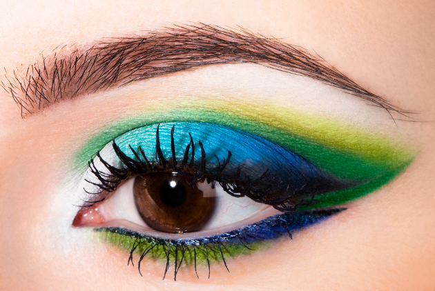 Blue And Green Eyeliner For Brown Eyes