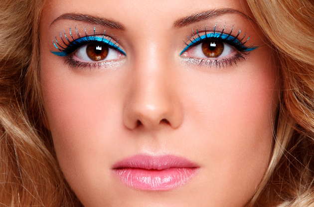 Electric Blue Eyeliner For Brown Eyes