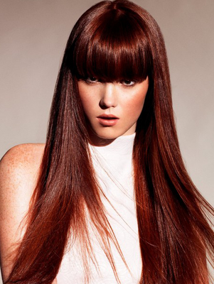 Auburn Red Hair Color Shade