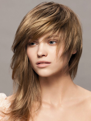 Long Choppy Layered Hairstyle