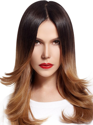 Long Layered Ombre Hairstyle