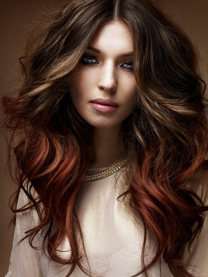 Medium Brown With Red Highlights