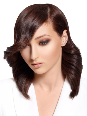 Shoulder Length Feathered Haircut