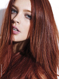 Auburn Red Hair Color Trend