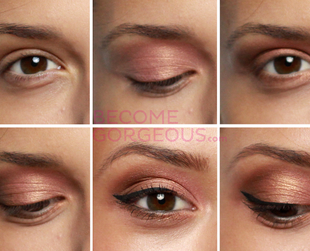 Bring out your hazel eye color with this wearable makeup look. Learn how to do your eye makeup with this easy tutorial!