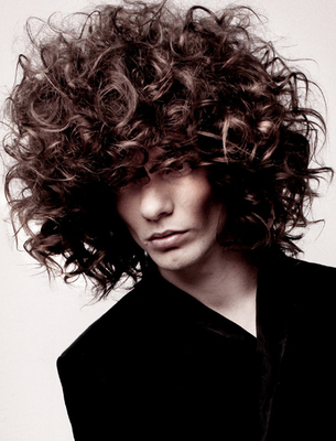 Men's Long Curly Hair