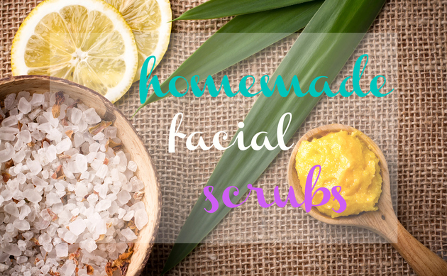 Facial recipe scrub warming