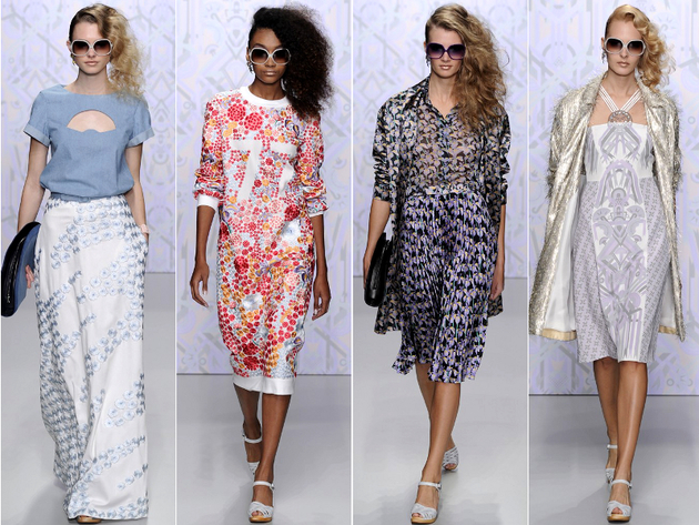 London Fashion Week Spring 2014 Trends 60s 70s