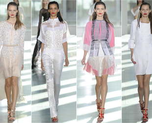 Take a peek at the glamor-filled Antonio Berardi, Burberry Prorsum, Emilia Wickstead, John Rocha and Julien Macdonald spring 2014 lines.