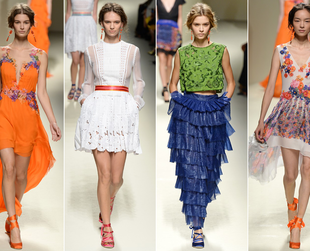 Check out the most interesting highlights from the first day of the Milan Fashion Week spring 2014!