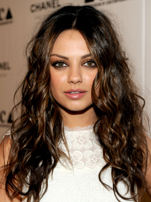 Mila Kunis Beach Waves Hair