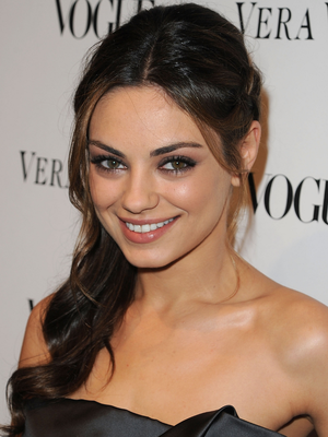 Mila Kunis Braided Side Ponytail