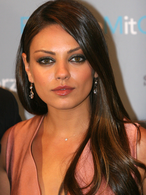 Mila Kunis Side Part Hair
