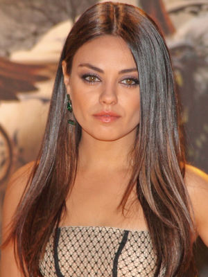 Mila Kunis Sleek Straight Hair