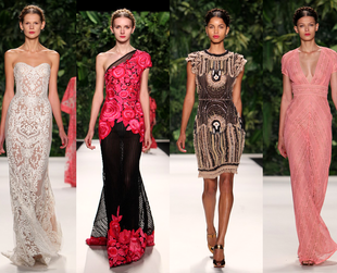 Check out the most interesting highlights from the Naeem Khan, Jenny Packham, Reem Acra, Oscar de la Renta and Badgley Mischka spring 2014 collections.
