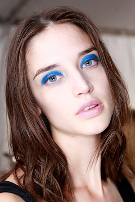 Intense Blue Eye Makeup Ss 2014