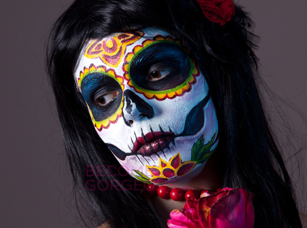 Bright Sugar Skull Makeup